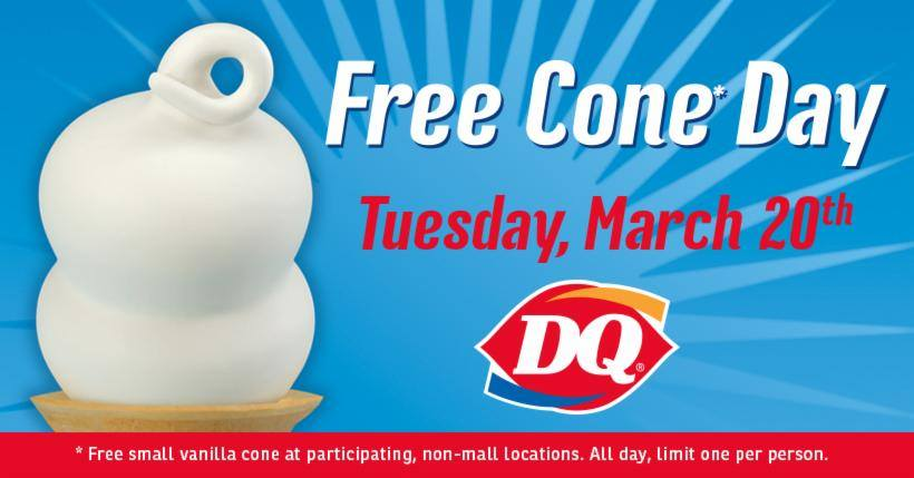 It's officially the first day of spring and places like Dairy Queen and Rita's Italian Ices are celebrating with free treats.